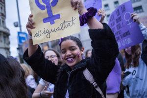 Desigualtats de gènere. Manifestació feminista 8M de 2020.